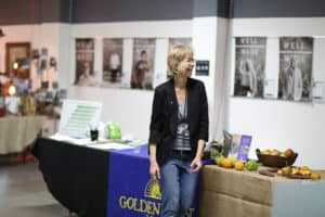Michelle at a Slow Money event sharing values-driven investment ideas at LA's Innovation Week